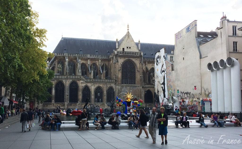 Nicki de Saint Phalle's fountains near the Georges Pompidou centre