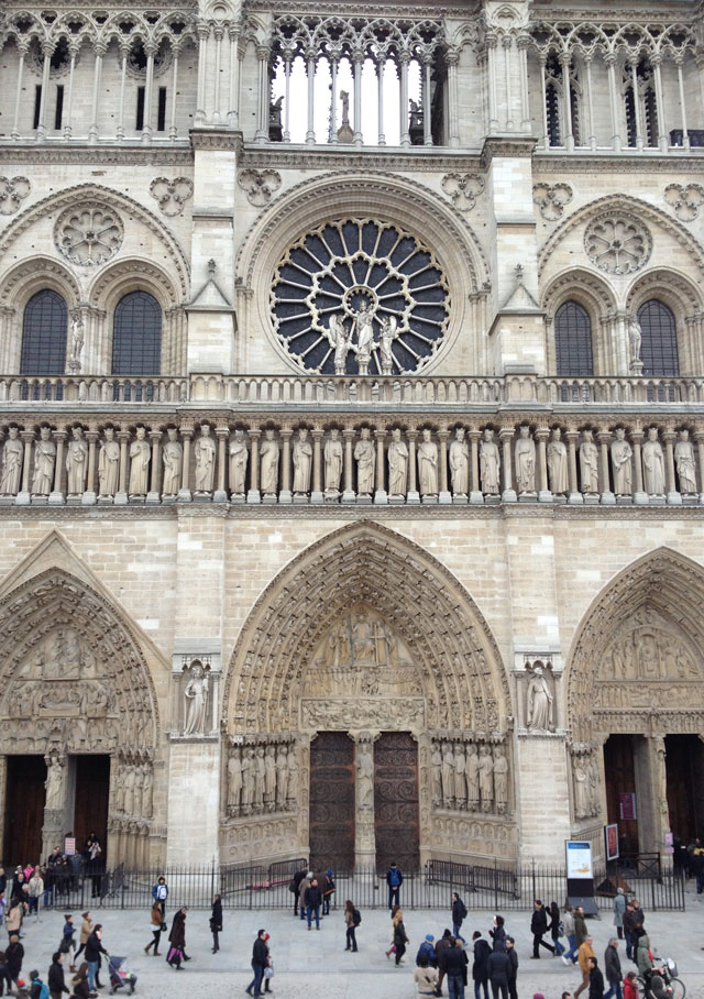 Notre Dame from the temporary grandstand
