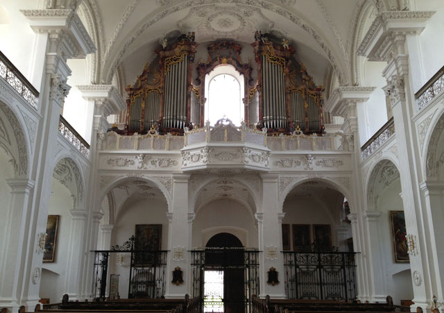 The balcony at Obermarchtal Abbey Church