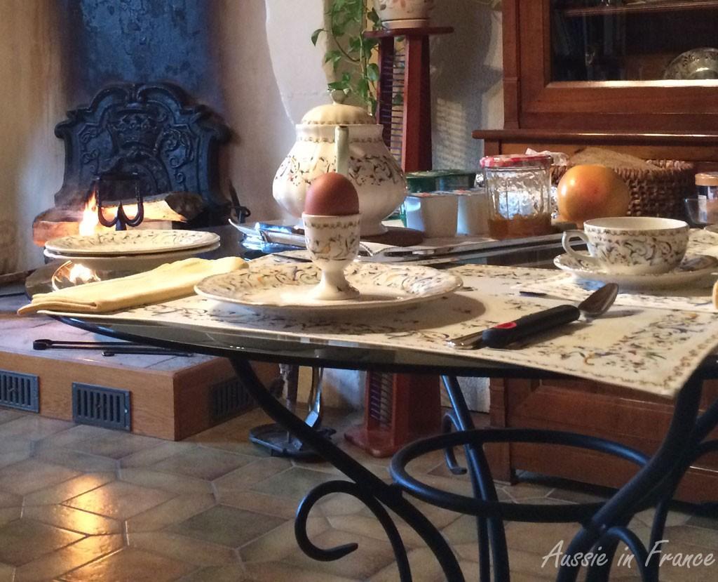 Oeufs à la coque en hiver