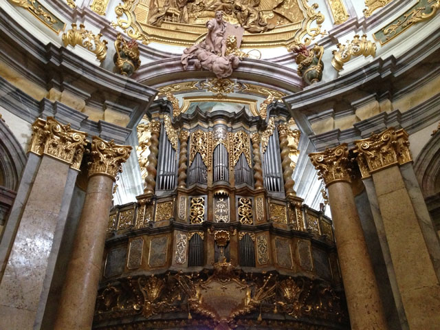 The organ at Weltenburg Abbey Church