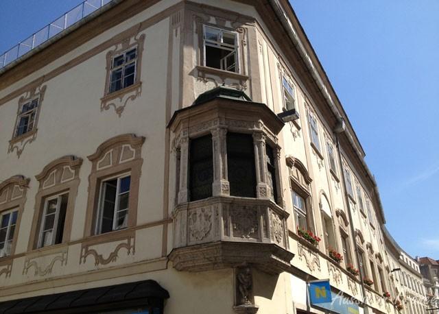 Typical oriel window