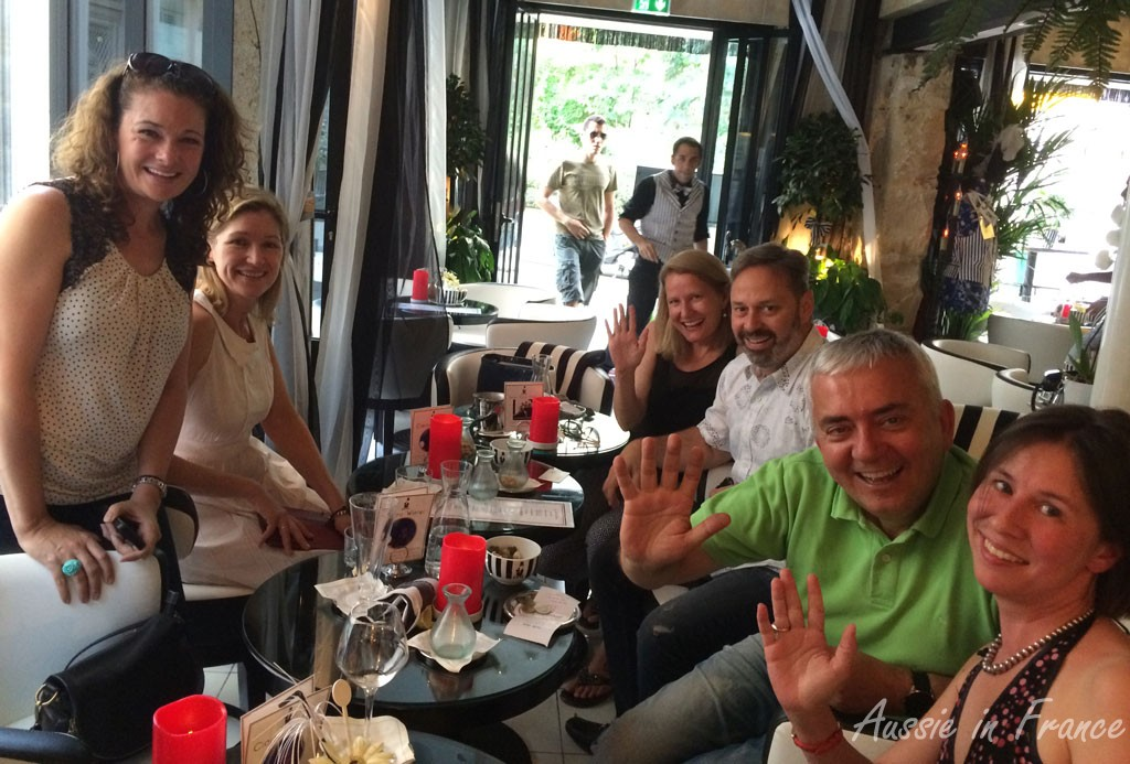 A drink with fellow bloggers and friends in Paris