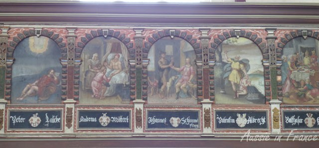Painted gallery in St Stephan's