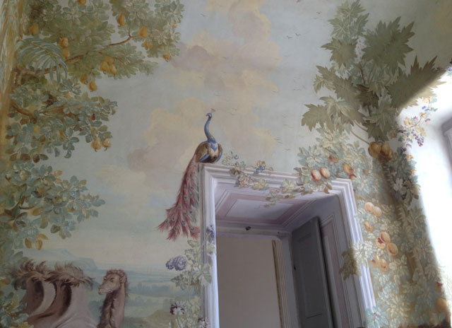 Wall paintings in the pavillion of Melk Abbey