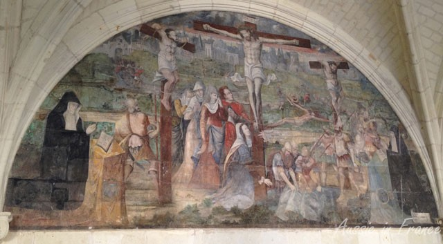 The abbesses usually managed to wend their way into the paintings in the confession room