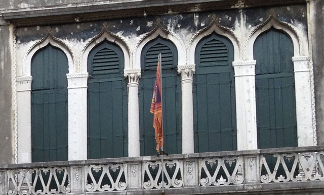 These shutters in Venice would be called persiennes in French