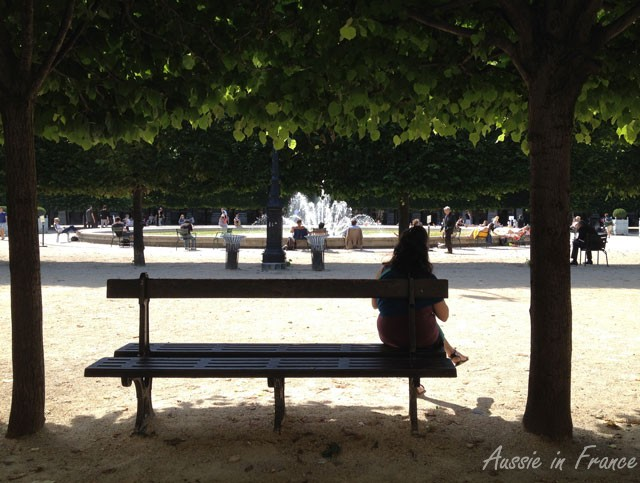 A bench in the shade
