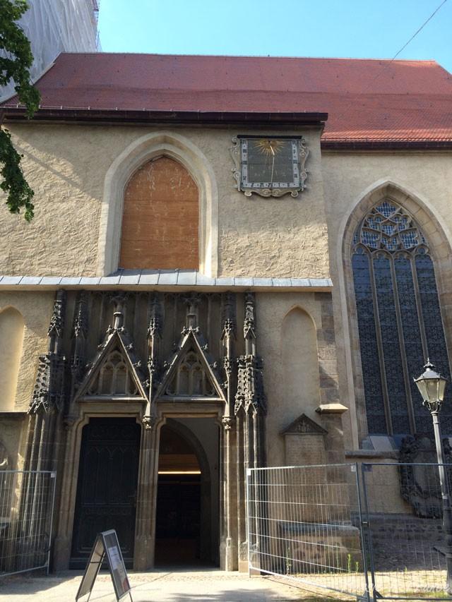 The Parish Church of Saint Mary's, also undergoing renovation