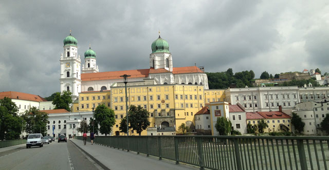 Passau from the bridge over the Danube
