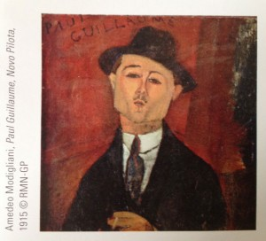 Paul Guillaume by Modigliani - photo taken from museum brochure