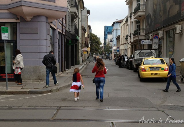 I was very amused by the contrast between this little girl and her mother