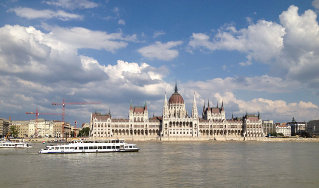 Parliament building from Buda