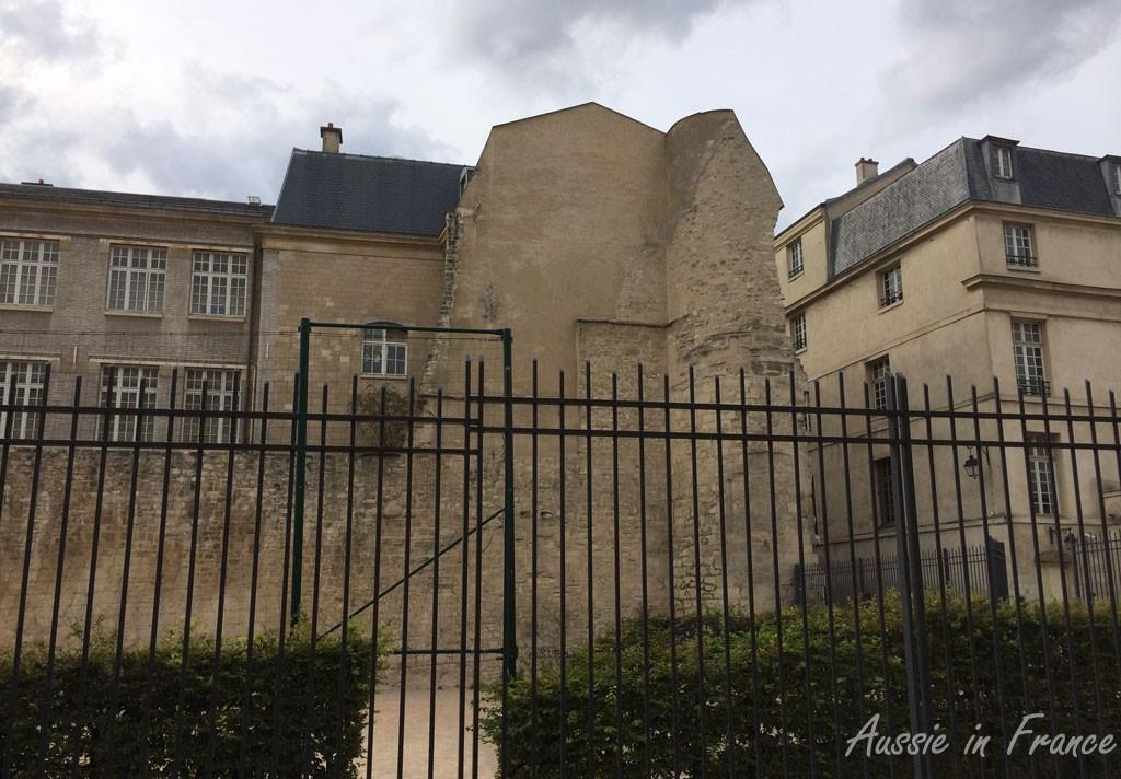Part of Philippe Auguste's wall around Paris