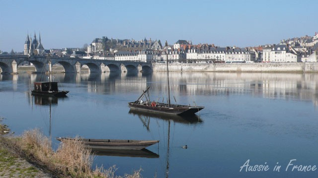 My favourite view of Blois with the traditional gabarre boats in the foreground