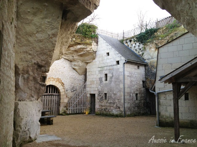 An 18th century pigeon house in the troglodyte village of Souzay Champigny