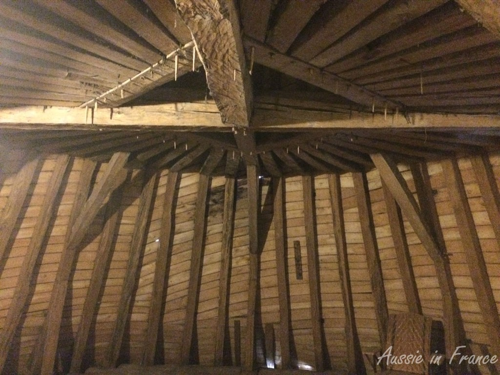 Under the roof at Meung castle