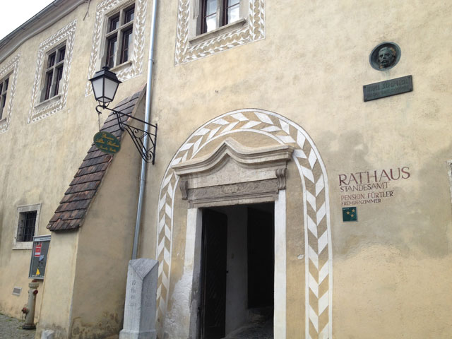 The rathaus (town hall) in Durstein