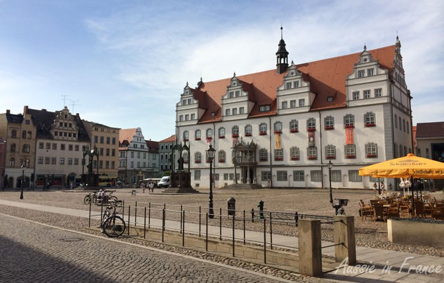 Rathaus with statues of Luther and Melanthon