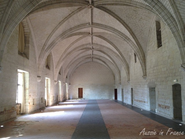 The refectory where the nuns survived on a very frugal diet of smoked fish and little else