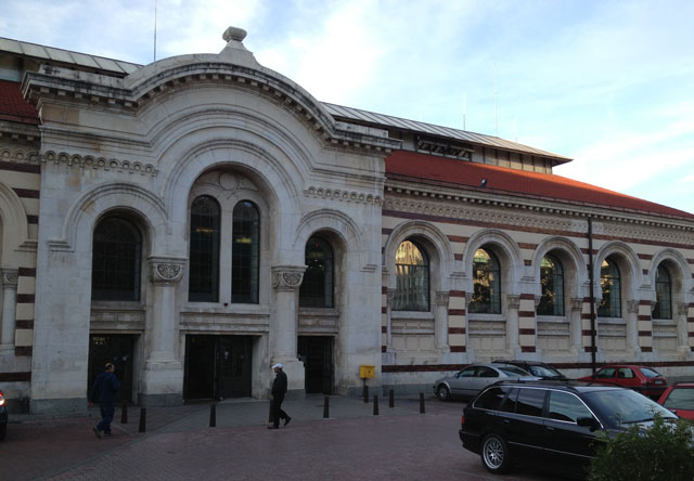 The Halite, or former food market,built in 1909 has been restored with a rather dismal attempt at creating a food court