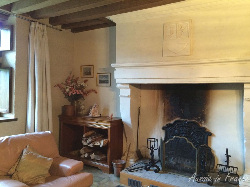 The Renaissance fireplace we renovated in the living room