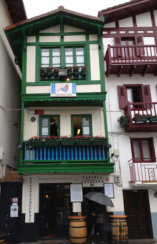 Taberna Atetxea in the fishermen's quartier where we had lunch on the top floor