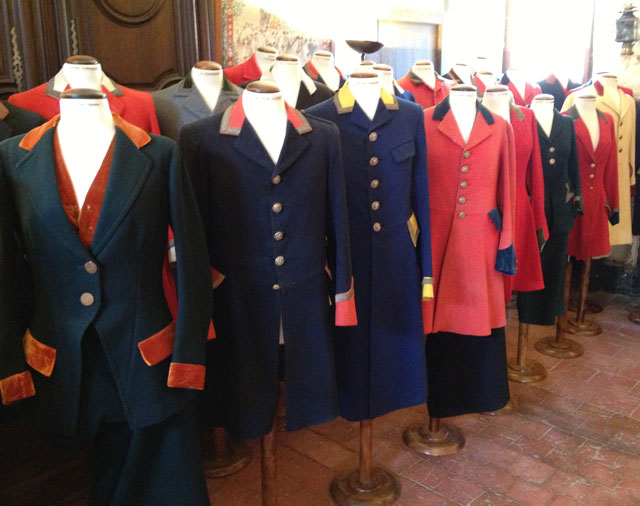 A wonderful collection of riding coats for the Hunt