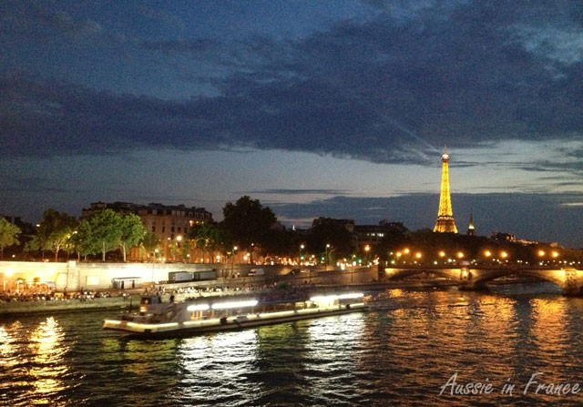 View of Berges de la Seine from the right bank