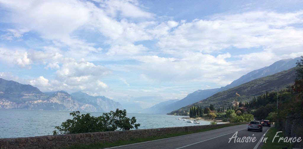The view of the lake from main road