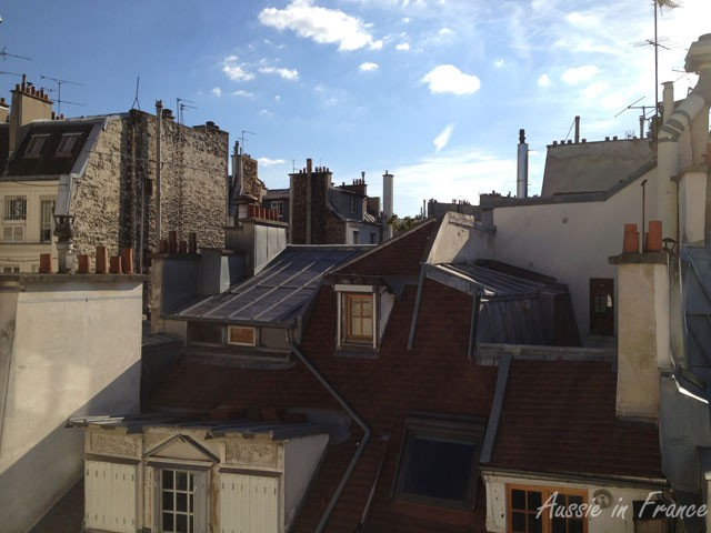 Rooftops from the apartment rented by Australian friends during their stay in Paris