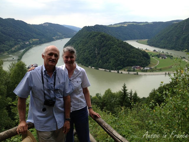 The S-bend in the Wachau in Austria where we crossed the Danube several times by ferry along our bike route