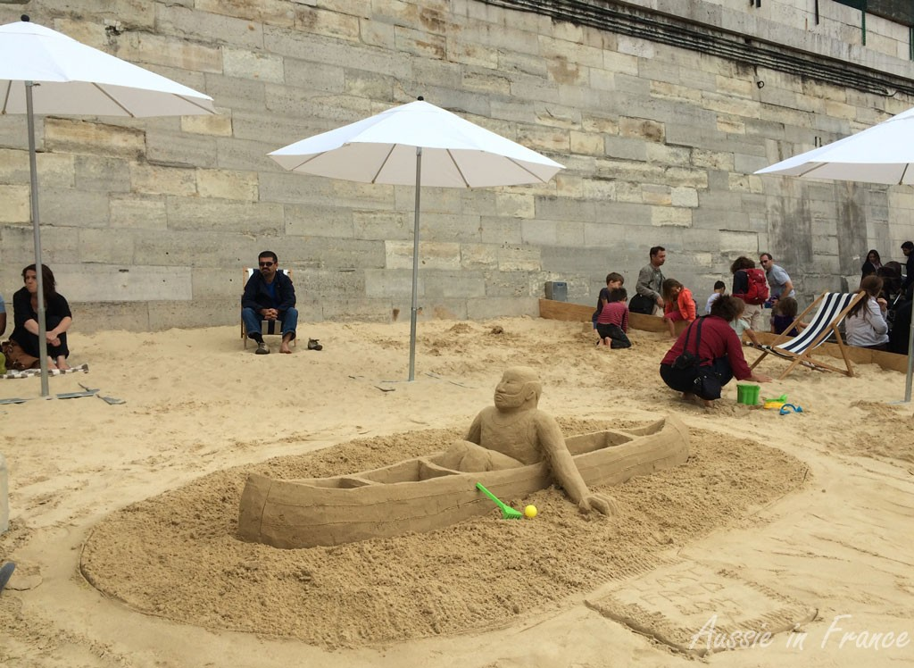 Sand sculpture at Paris Plage