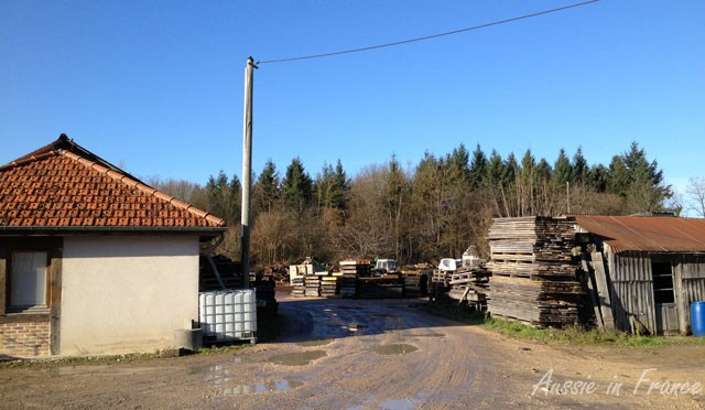 Arriving at the sawmill
