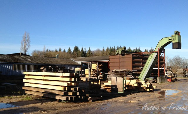 Some of the equipment in the sawmill