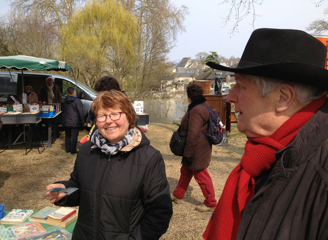 Sellers at Azay brocante on the 5th Sunday of the month