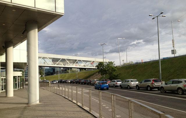 Pedestrian walkway from shopping centre