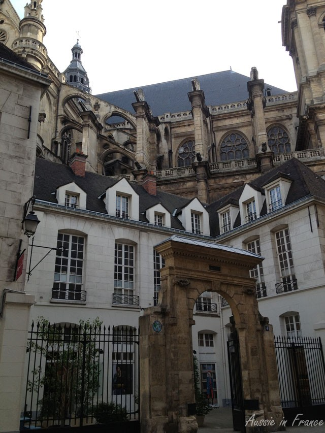 Side of Saint Eustache in Rue du Jour