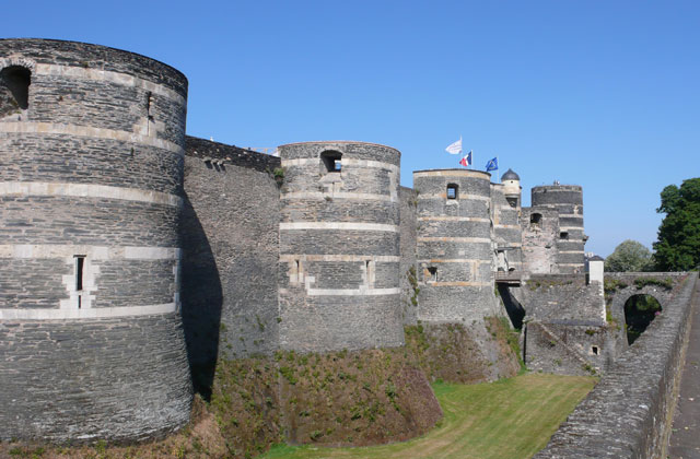 Angers Castle from the side of the ramparts