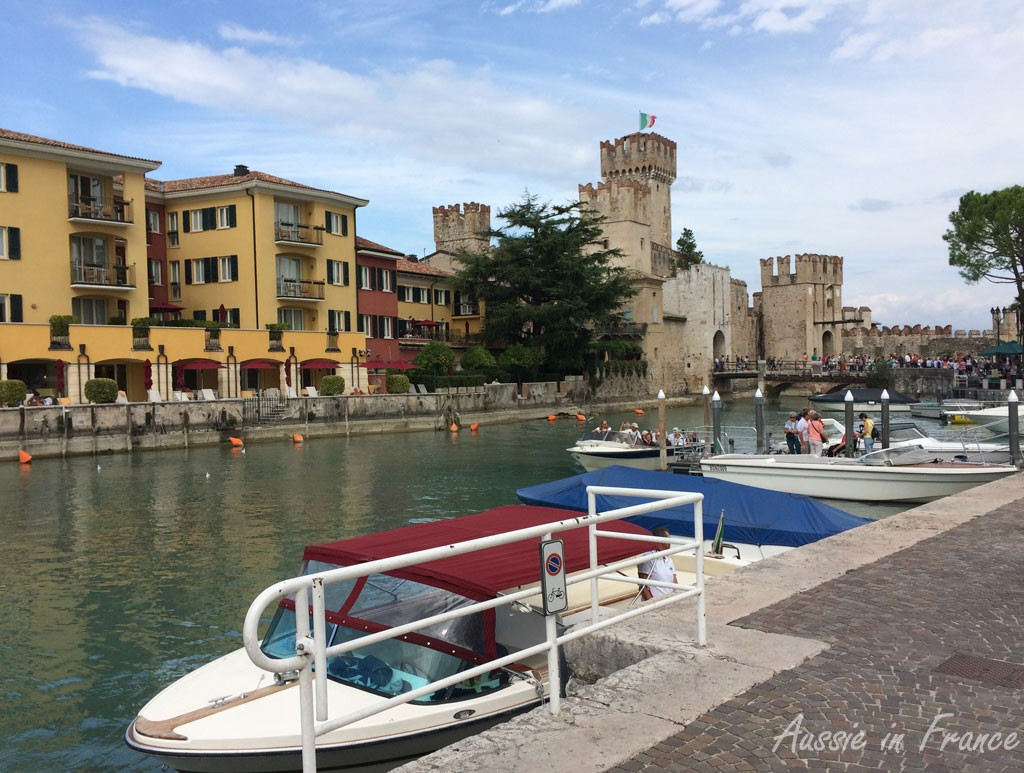 Sirmione castle from the port