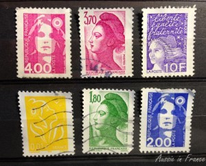 Six previous mariannes from my stamp album