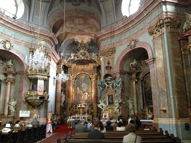Bazilika Kincstar baroque church in Bratislava