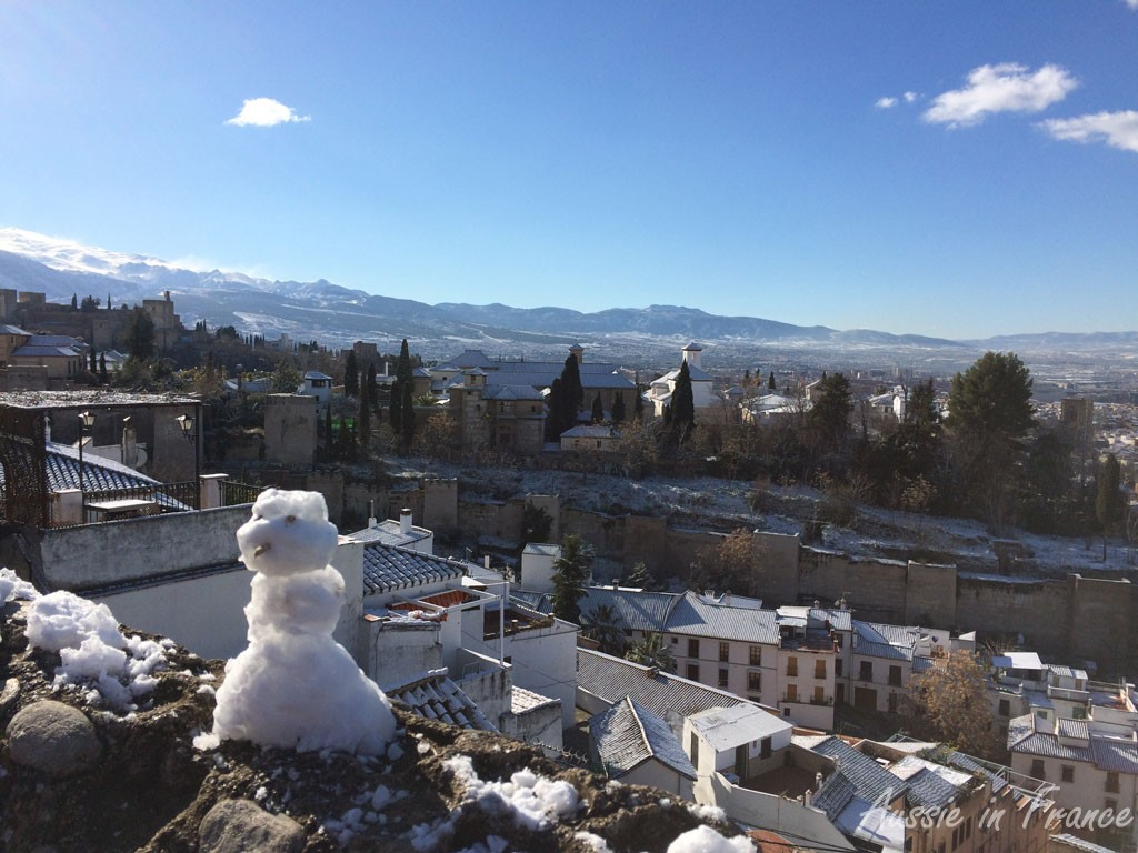 We did not expect to see a snowman in Granada!