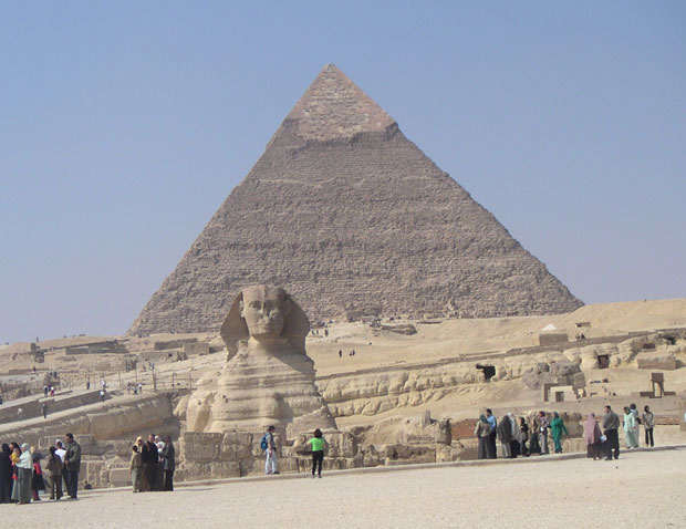 The Sphinx and the Pyramid of Kheph, Egypt