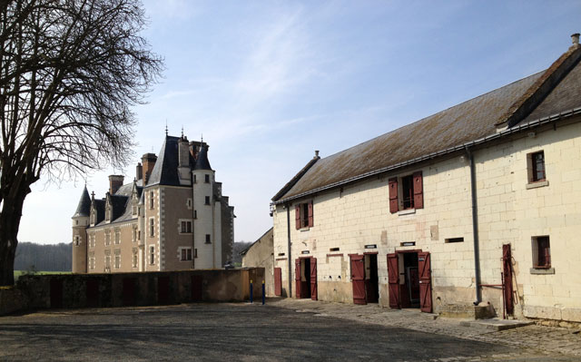 Extensive outbuildings of Château Montpoupon