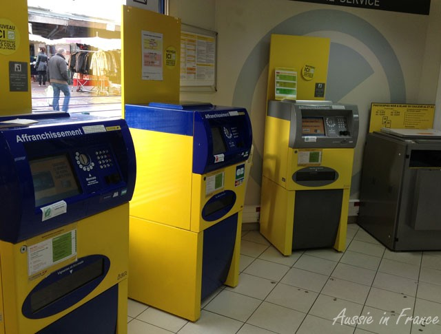 Stamp machines in the post office in Nogent sur Marne