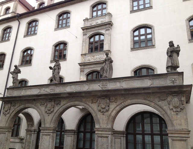 Statues on a façade