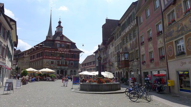 Main quare at Stein am Rein