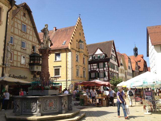 Animated main street in Sigmaringen