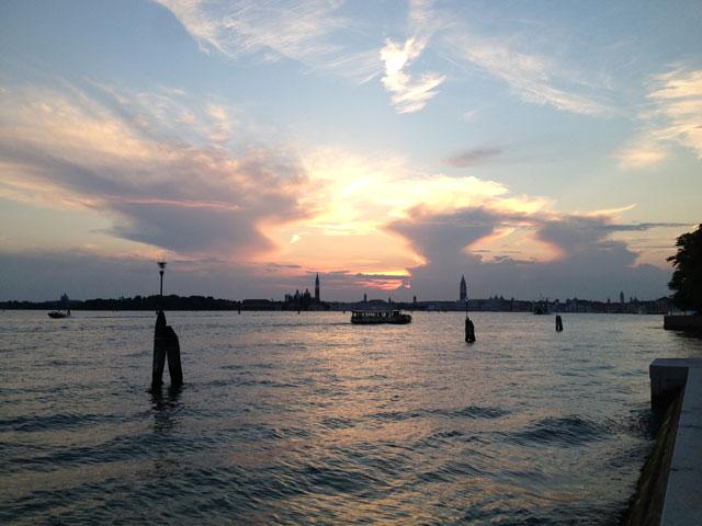 Sunset over Venice from Santa Elena island